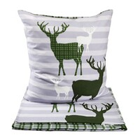 Noble flannel bed linens, stag fabric, 135x200