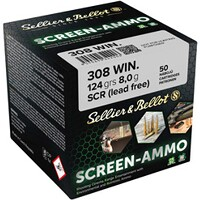 Screen-Ammo .308 Win. SCR Zink 8,0g/124grs., Sellier & Bellot