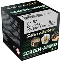 7x57 Screen-Ammo SCR Zink 6,5g/100grs., Sellier & Bellot