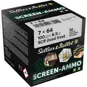 7x64 Screen-Ammo SCR Zink 6,5g/100grs., Sellier & Bellot