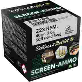 .223 Rem. Screen-Ammo SCR Zink 2,6g/40grs., Sellier & Bellot
