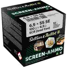 6,5x55 Screen-Ammo SCR Zink 6,5g/100grs., Sellier & Bellot