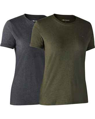 Damen T-Shirts, 2er-Pack, Deerhunter