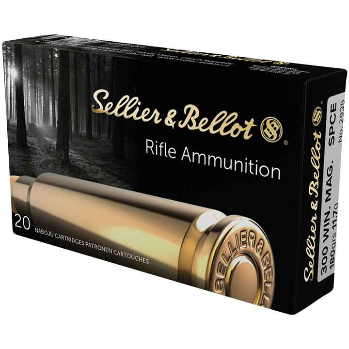 .300 Win. Mag. Teilmantel 180 grs., Sellier & Bellot