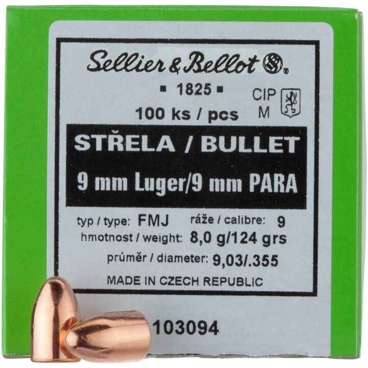 9 mm Luger .355 124 grs. Vlm Rk, Sellier & Bellot
