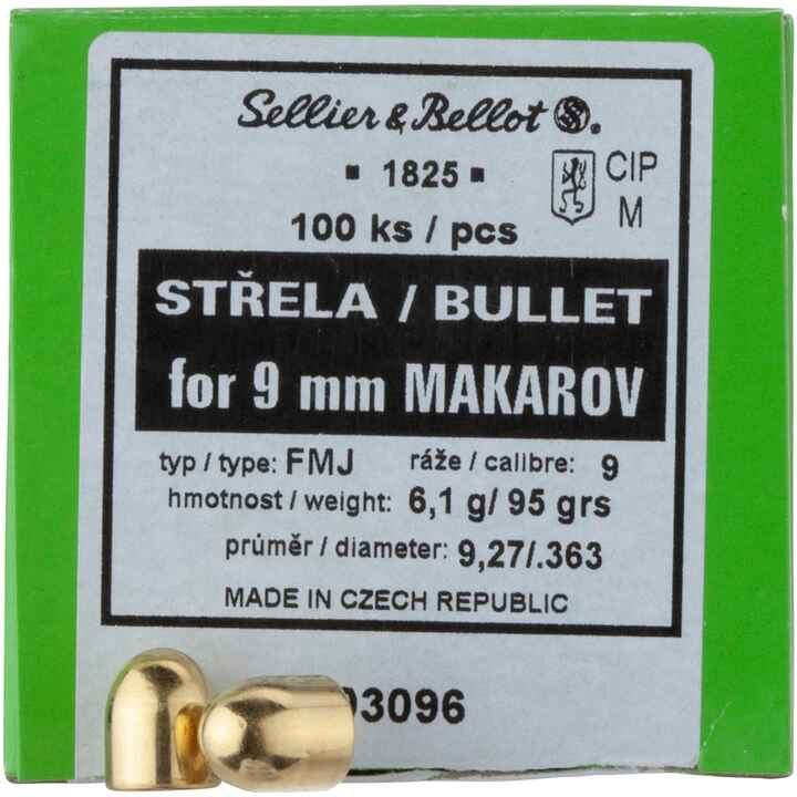 .363 (9mm Mak.), 95grs. Vlm, Sellier & Bellot