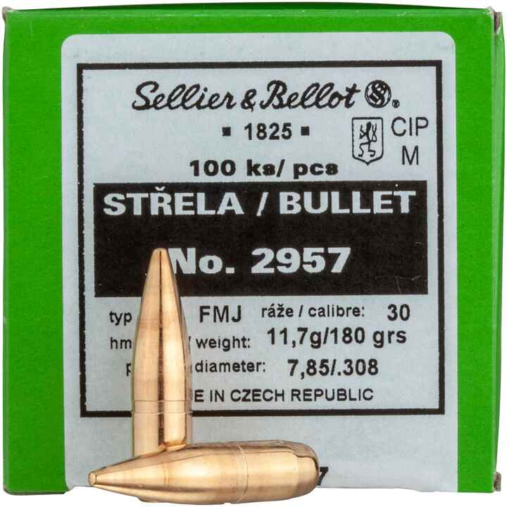 .308 (7,62mm), 180grs. Vlm BT, Sellier & Bellot