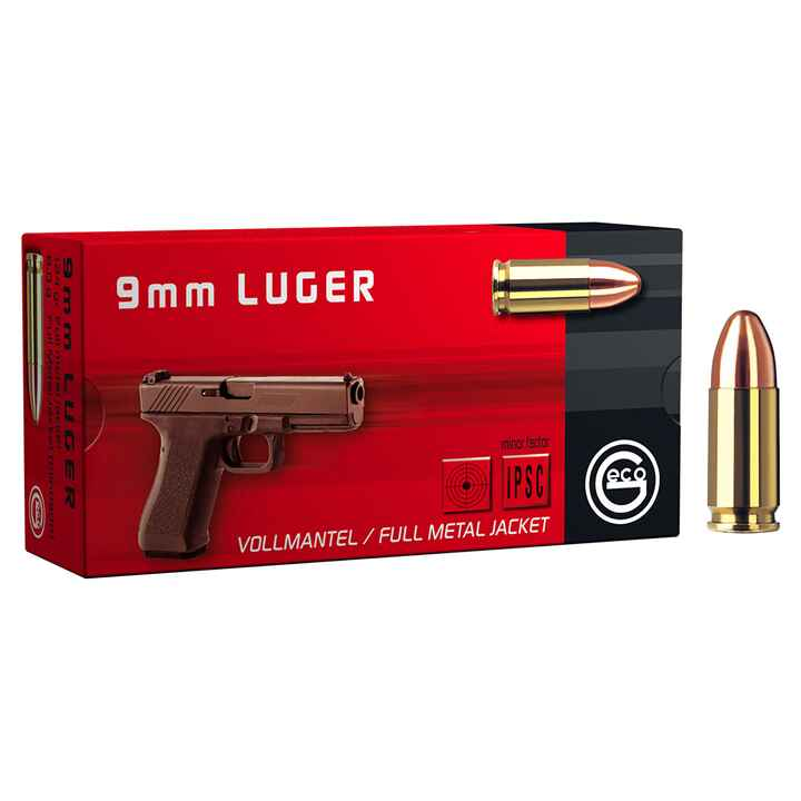 9 mm Luger Vollmantel 8,0g/124grs., Geco