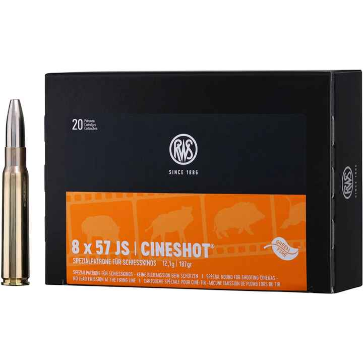8x57 IS Cineshot 187 grs., RWS