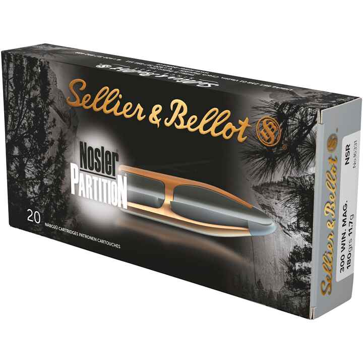 .300 Win. Mag. Nosler Partition 180 grs., Sellier & Bellot