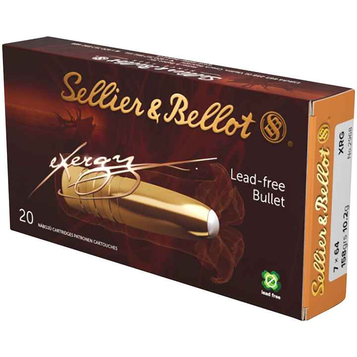7x64 eXergy XRG bleifrei 158 grs., Sellier & Bellot