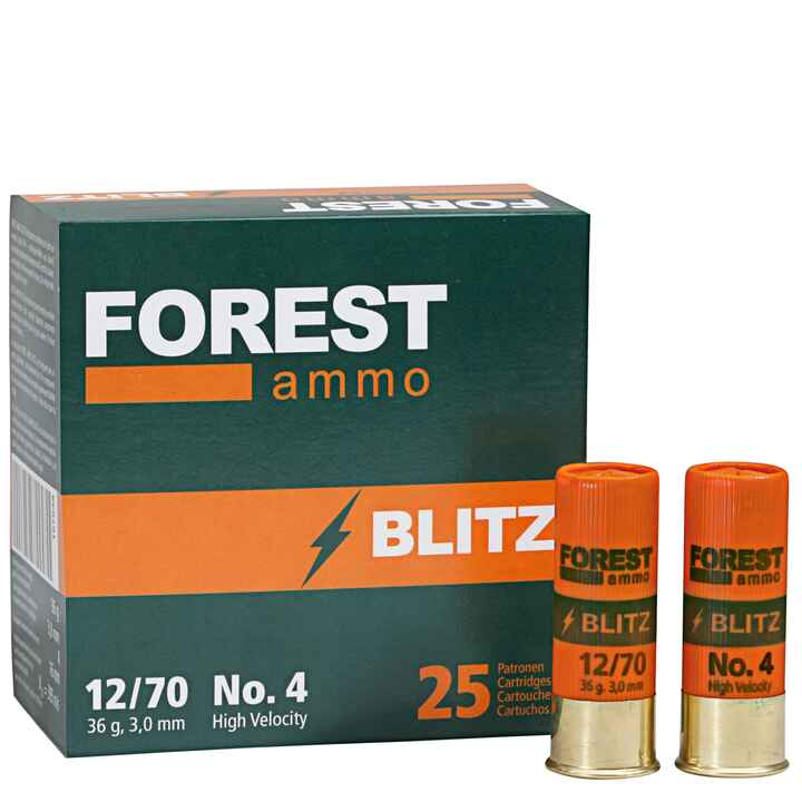 12/70 Blitz HV (High Velocity) 36 g, 3,0 mm, Forest Ammo