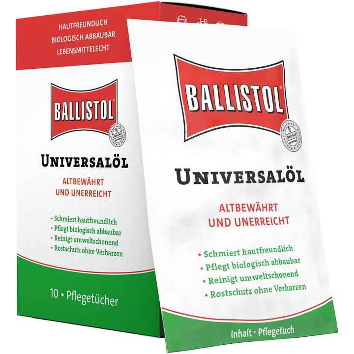 Universal oil, care box with towels, BALLISTOL