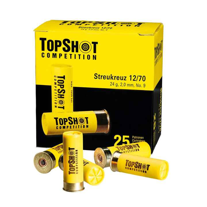12/70 Skeet Streukreuz 2,0mm 24g, TOPSHOT Competition