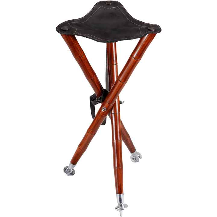 Luxus three-legged stool, leather, height: 70 cm., Wald & Forst