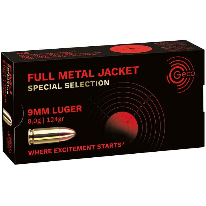 9 mm Luger VLM Special 8,0g/124grs, Geco