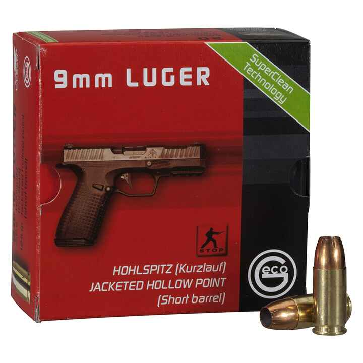 9mm Luger HP 124grs., Geco