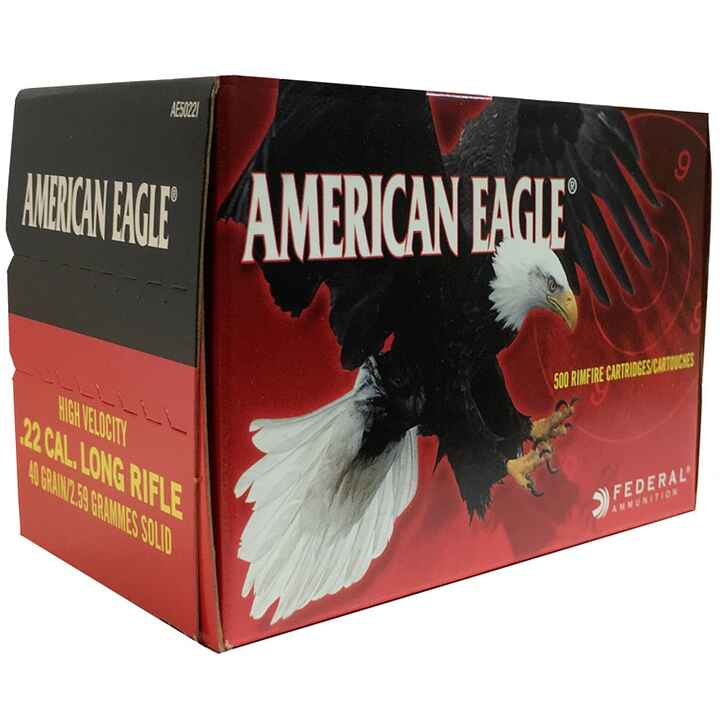 .22 lfb. American Eagle HV Solid 40 grs., Federal Ammunition