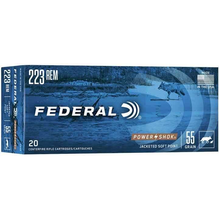 .223 Rem. Power Shok Tlm 3,6g/55grs., Federal Ammunition