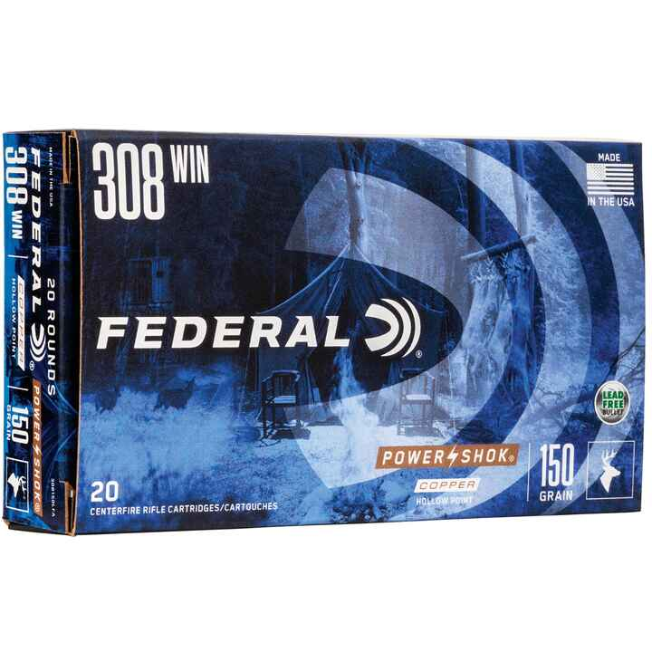 .308 Win. Federal Power Shok Copper HP 150 grs., Federal Ammunition