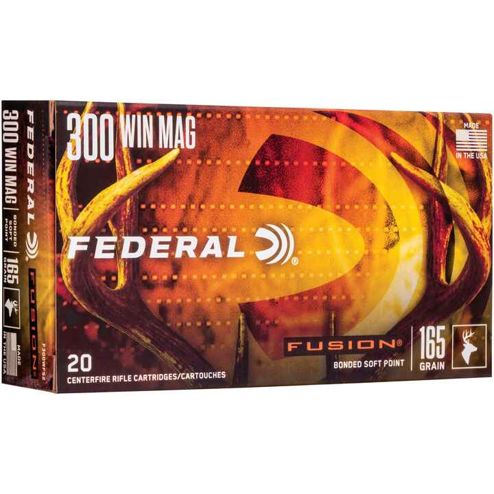 .300 Win. Mag. Fusion 165 grs., Federal Ammunition