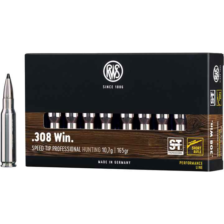 .308 Win. Speed Tip Pro Short Rifle 10,7/165 g/grs., RWS