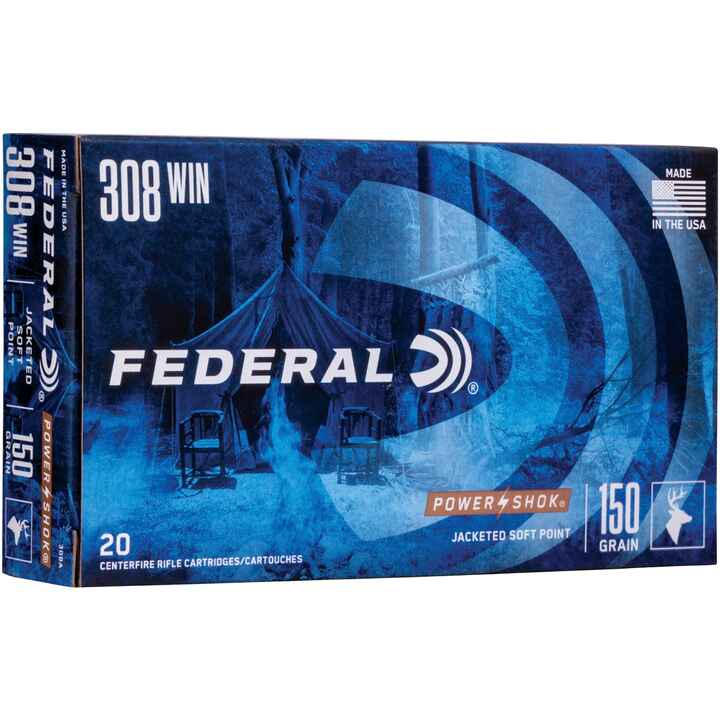 .308 Win. Power Shok Tlm 9,7g/150grs., Federal Ammunition