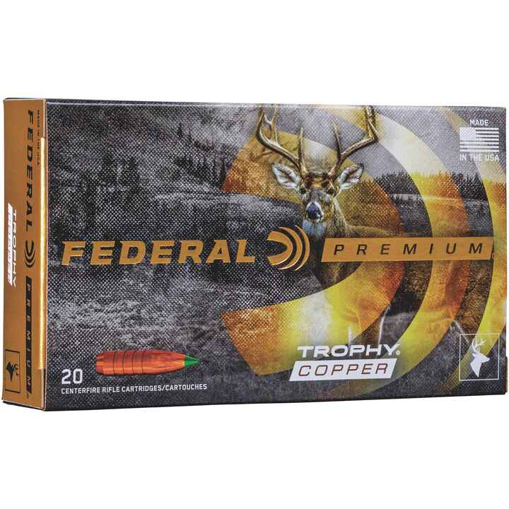 .338 Win. Mag.. Trophy Copper bleifrei 225 grs., Federal Ammunition