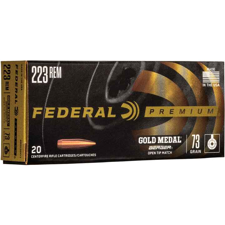 .223 Rem. Premium Gold Medal Berger BT Target 4,7g/73grs., Federal Ammunition