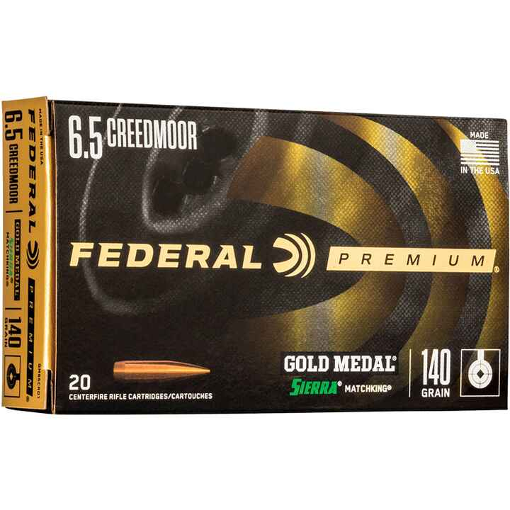 6,5 Creedmoor Premium Gold Medal Sierra Match King  9,1g/140grs., Federal Ammunition
