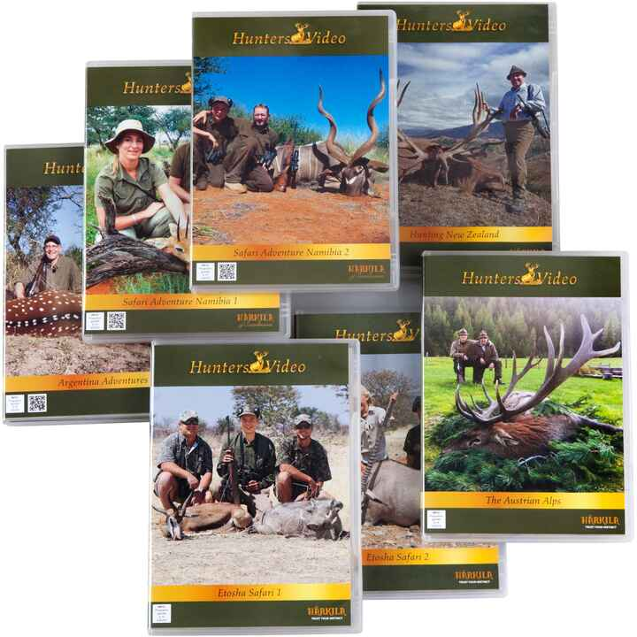 DVD-Set: Jagen international, 7 DVDs, Hunters Video
