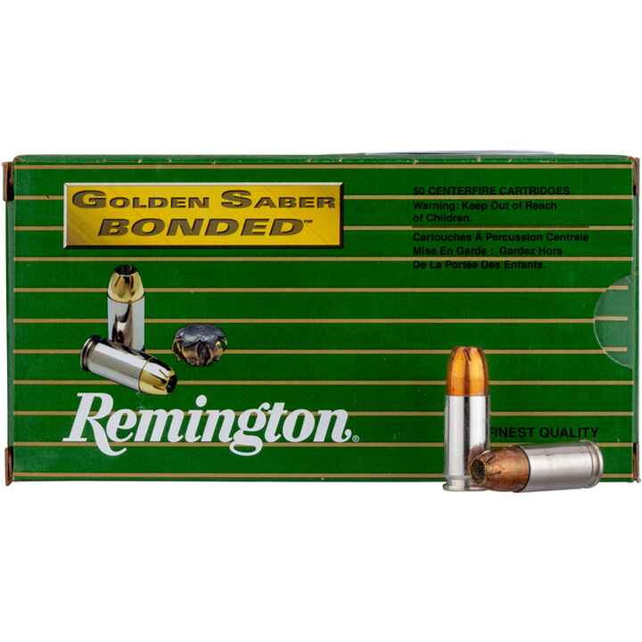 9 mm Luger+P Golden Saber Bonded 8,0g/124grs., Remington