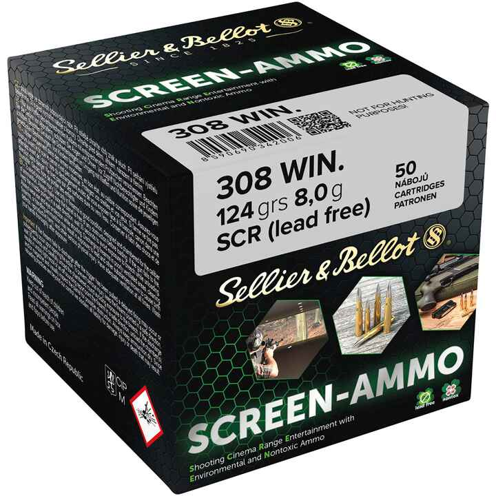 .308 Win. Screen-Ammo SCR Zink 8,0g/124grs, Sellier & Bellot