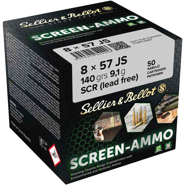 Screen-Ammo 8x57 IS SCR Zink 9,0g/140grs., Sellier & Bellot