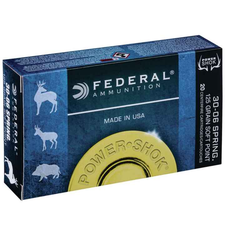 .30-06 Spr. Teilmantel Power Shok 14,3/220 g/grs., Federal Ammunition