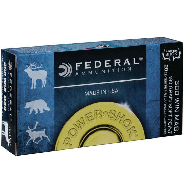 .300 Win. Mag. Power Shok Teilmantel 11,7g/180grs., Federal Ammunition