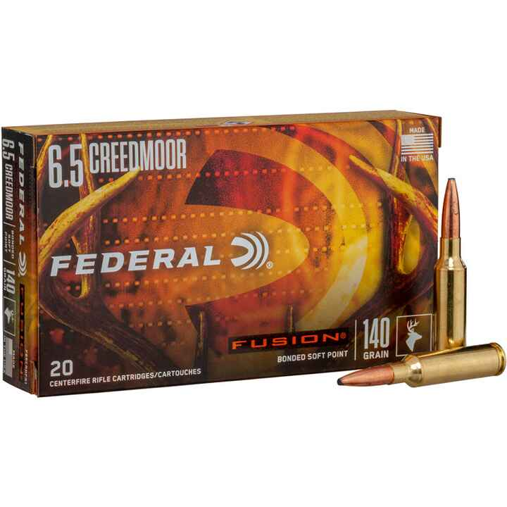 6,5 Creedmoor 9,1/140 g/grs., Federal Ammunition