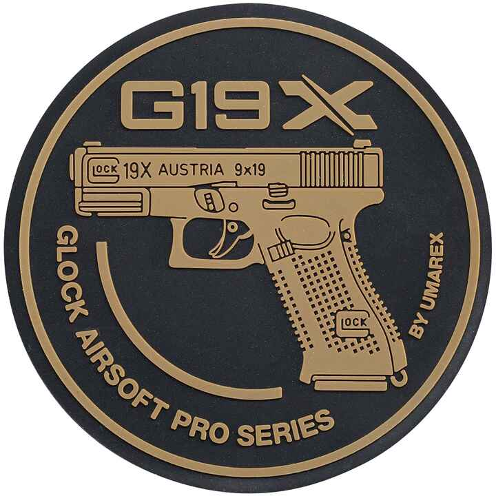 Rubber Patch Glock 19X Airsoft, Glock