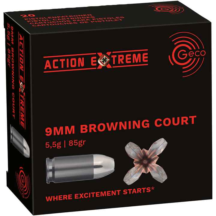 9 mm Br. Kurz Hohlspitz Action Extreme 5,5g/85grs., Geco