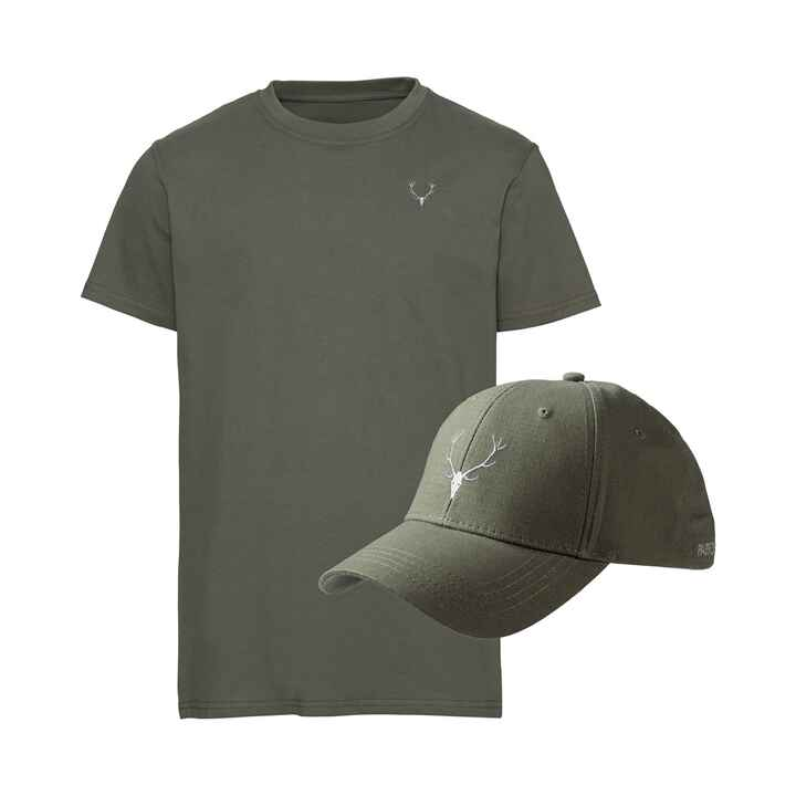 Set T-Shirt/Cap Hirschstick, Parforce