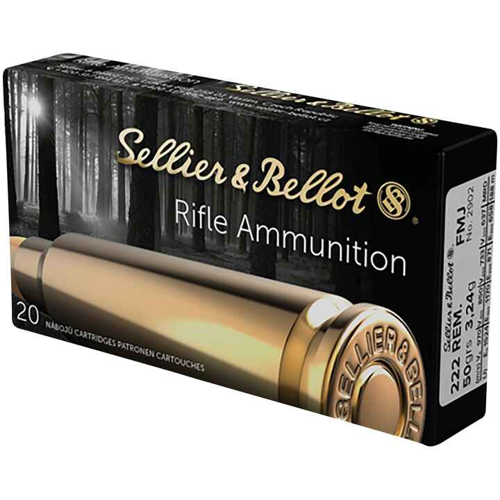 .222 Remington, Vollmantel, Sellier & Bellot