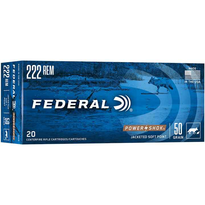 .222 Rem. Power Shok Tlm 50 grs., Federal Ammunition