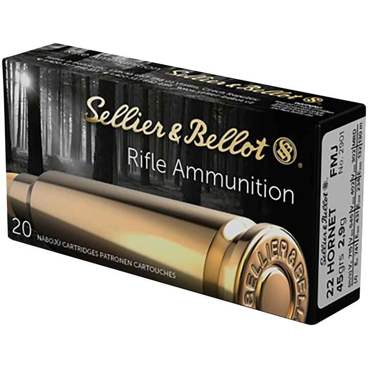 .22 Hornet Vollmantel 45 grs., Sellier & Bellot
