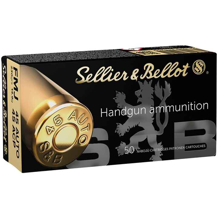 .45 ACP Vollmantel 14,9g/230grs., Sellier & Bellot