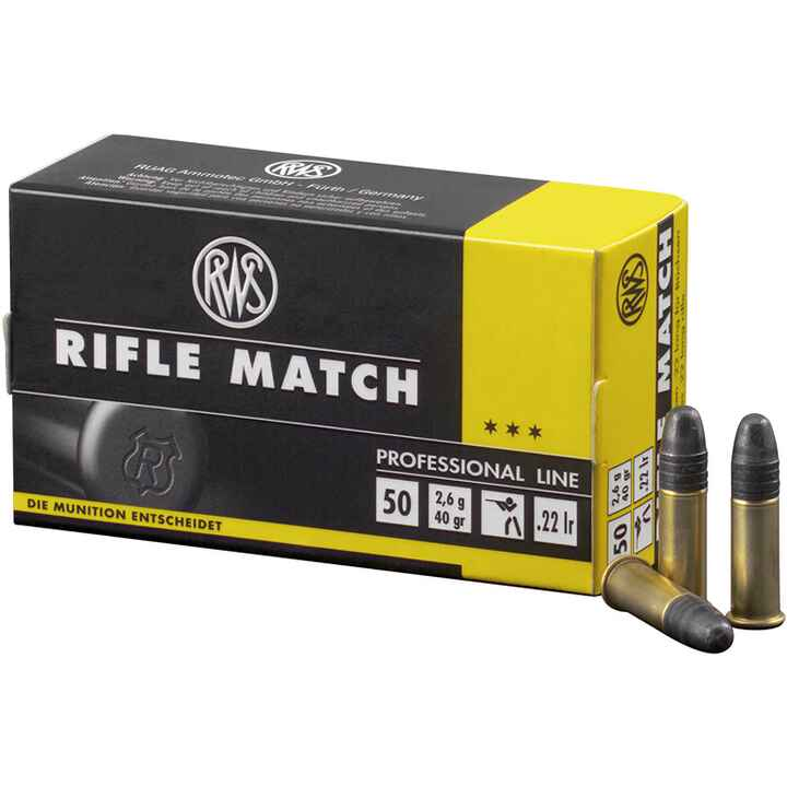 .22 lfb. Rifle Match 2,6g/40grs., RWS