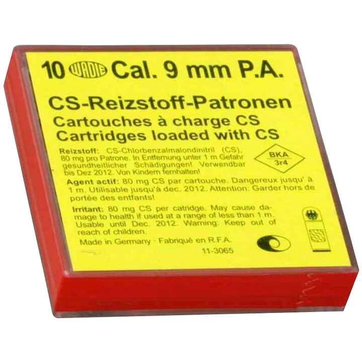 CS-Gaspatronen 9 mm P.A., Wadie