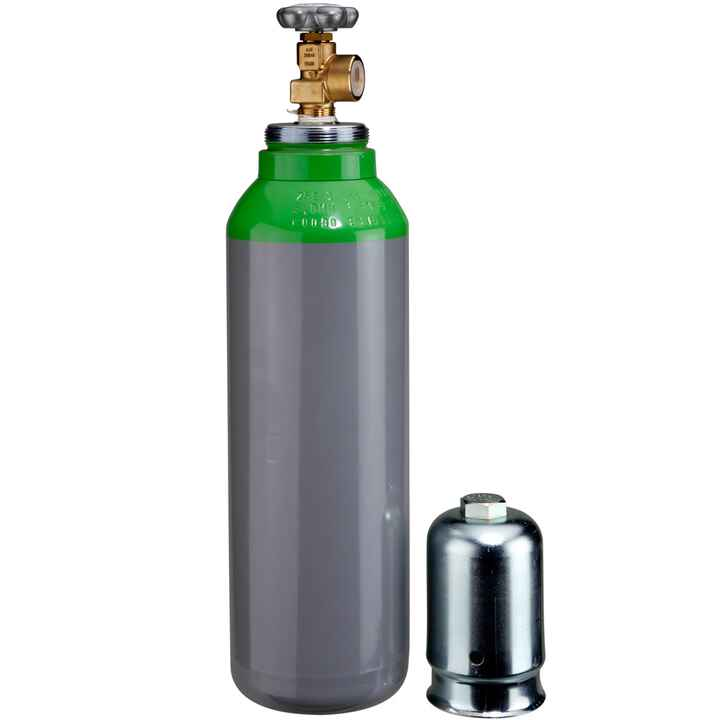 Compressed air cylinder, 5 l, with 200 bar