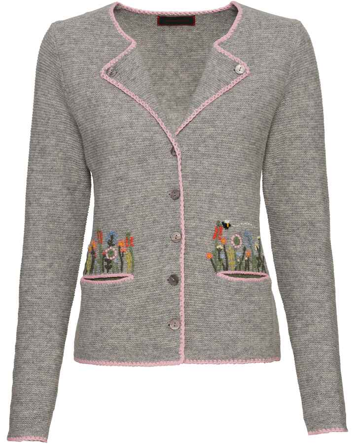 Linksstrickjacke mit Revers, REITMAYER