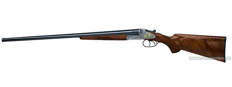 40E side-by-side shotgun, small arabesque engraving, Merkel