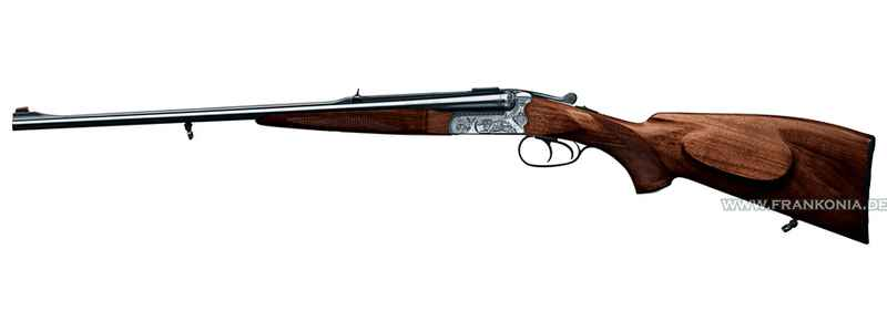 Double rifle 141, double trigger with set trigger and hunting engraving, Merkel